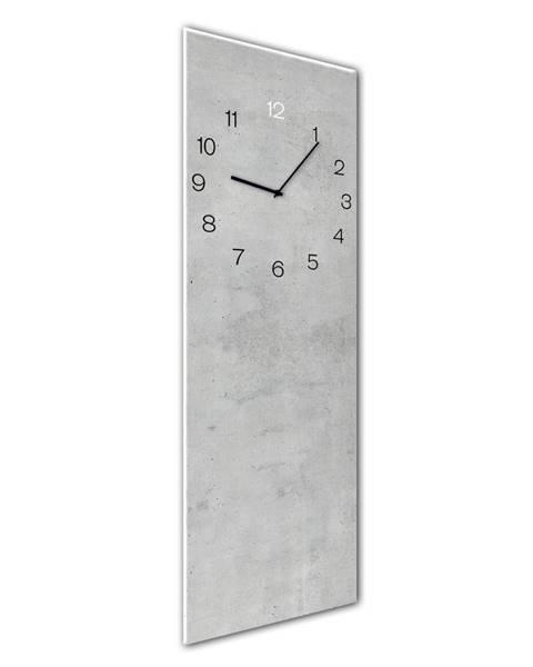 Styler Nástenné hodiny Styler Glassclock Concrete, 20×60 cm
