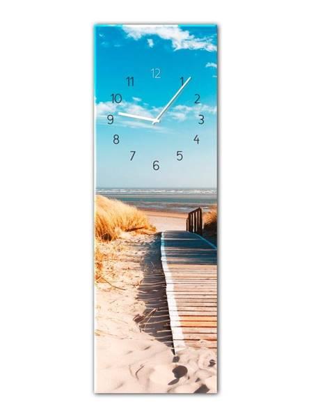 Styler Nástenné hodiny Styler Glassclock Sunny, 20 × 60 cm