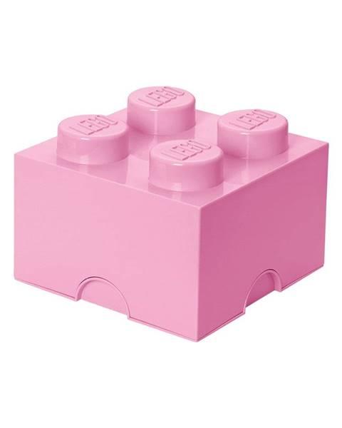 LEGO® Svetloružový úložný box štvorec LEGO®