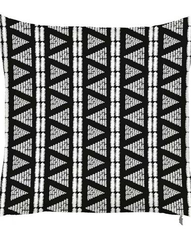 Čierno-biela obliečka na vankúš Mike&Co.NEWYORK Geometric Tribal, 43 × 43 cm