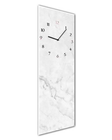 Nástenné hodiny Styler Glassclock Marble, 20×60 cm