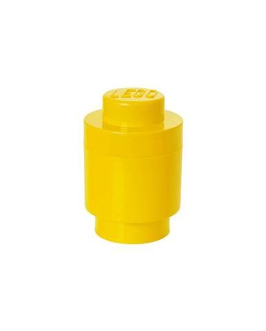 Žltý úložný okrúhly box LEGO®, ⌀ 12,5 cm