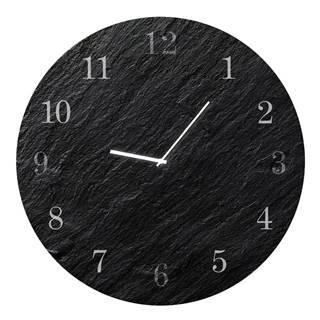Nástenné hodiny Styler Glassclock Carbon, ⌀ 30 cm