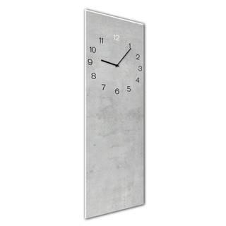Nástenné hodiny Styler Glassclock Concrete, 20×60 cm