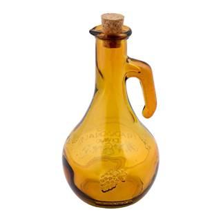 Žltá fľaša na ocot z recyklovaného skla Esschert Design Di Vino, 500 ml