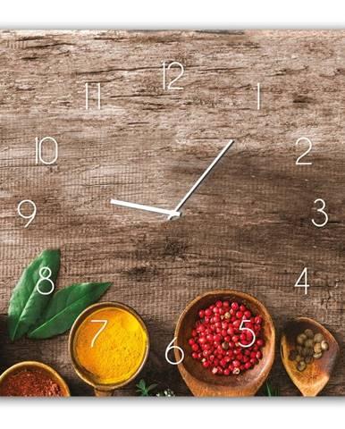 Nástenné hodiny Styler Glassclock Pepper, 30 × 30 cm