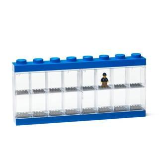 Modrá zberateľská skrinka na 16 minifigúrok LEGO®