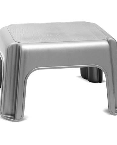Sivá stolička Addis Step Stool Metallic
