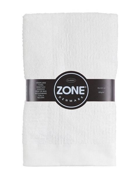 Zone Biely bavlnený uterák Zone Classic, 50×100cm