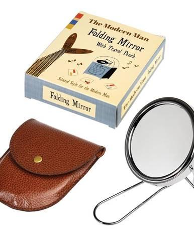 Zrkadlo na holenie v koženkovom puzdre Rex London Modern Man
