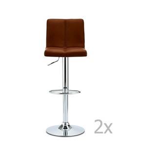 Sada 2 barových svetlohnedých stoličiek FurnhoCoco