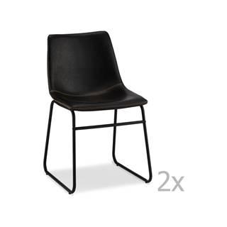 Súprava 2 čiernych stoličiek FurnhoIndiana