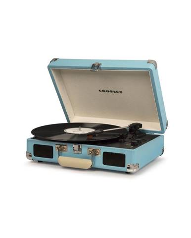 Svetlomodrý gramofón Crosley Cruiser Deluxe