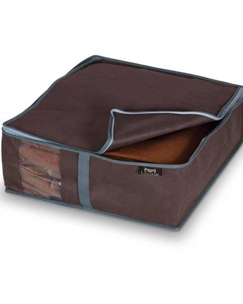 Domopak Hnedý úložný box na bielizeň Domopak Living, 15×45 cm