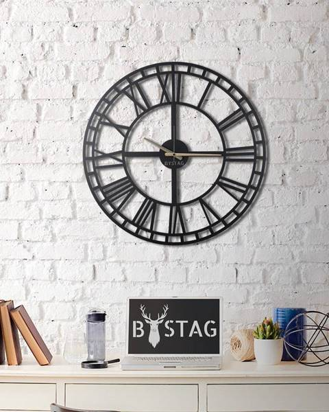 Bystag Nástenné kovové hodiny Greece, 70×70 cm
