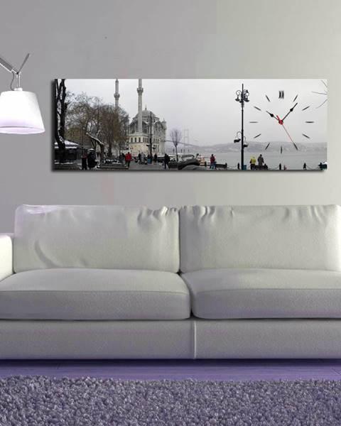 ClockArt Obrazové hodiny V meste, 30×90 cm