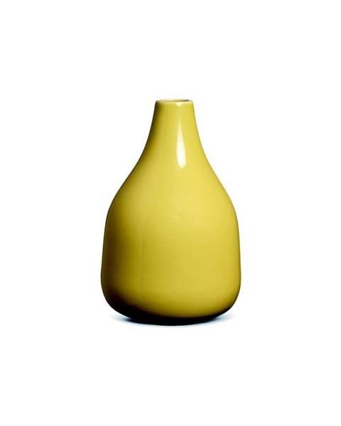Kähler Design Žltá kameninová váza Kähler Design Botanica, výška 18 cm