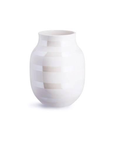 Biela kameninová váza Kähler Design Omaggio, výška 20 cm