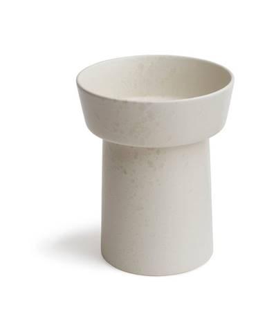 Biela kameninová váza Kähler Design Ombria, výška 20 cm