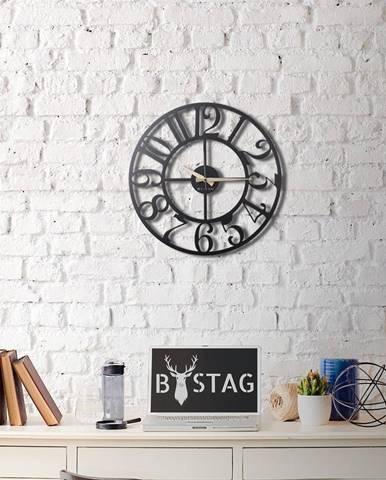 Kovové nástenné hodiny The Old Times, 50×50 cm