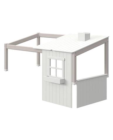 Sivý polovičný rám k domčekovej posteli Flexa Classic