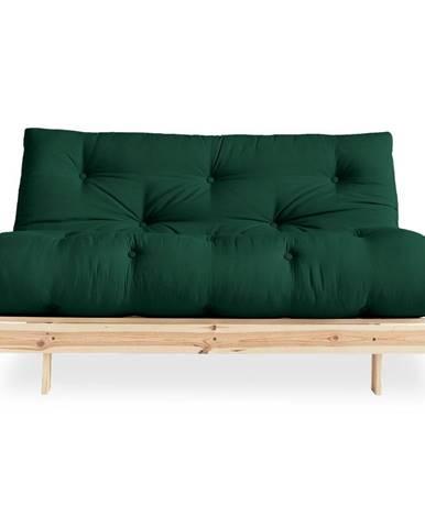 Variabilná pohovka Karup Design Roots Raw/Dark Green