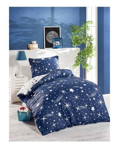 Modré obliečky na jednolôžko Jussno Night Sky, 140 x 220 cm