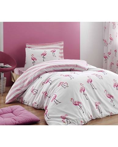 Obliečky na jednolôžko Flamingo, 140×200 cm