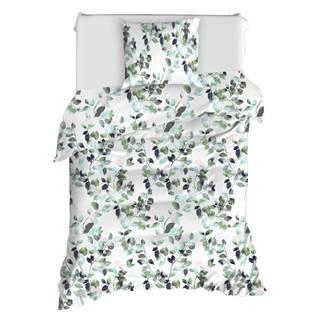 Obliečky na jednolôžko z ranforce bavlny Mijolnir Sabine Green, 140 × 200 cm