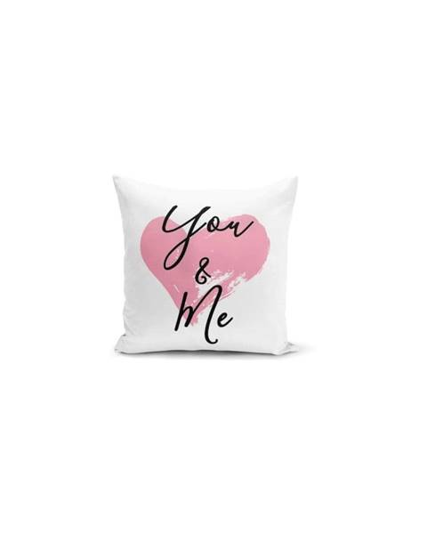Minimalist Cushion Covers Obliečka na vankúš Minimalist Cushion Covers You & Me Heart, 45×45 cm