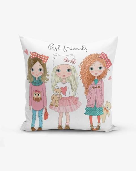Minimalist Cushion Covers Obliečka na vankúš s prímesou bavlny Minimalist Cushion Covers Best Friends, 45×45 cm
