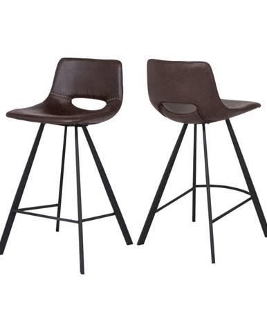 Tmavohnedá barová stolička Canett Coronas, výška 87 cm