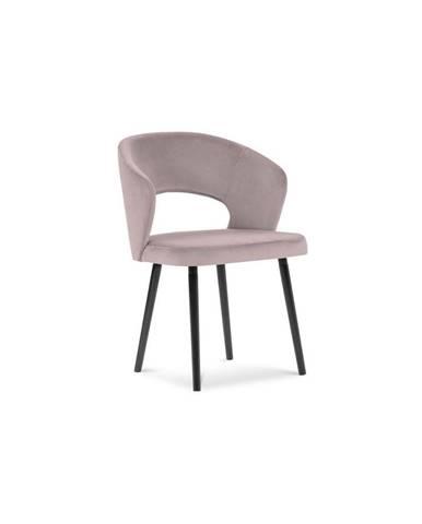 Púdrovoružová jedálenská stolička so zamatovým poťahom Windsor & Co Sofas Elpis