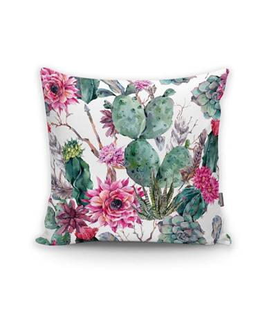 Obliečka na vankúš Minimalist Cushion Covers Cactus And Roses, 45 × 45 cm