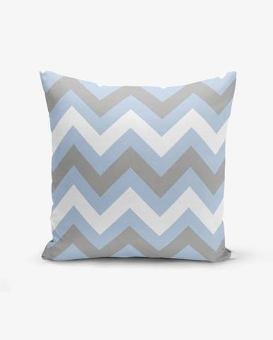 Obliečka na vankúš Minimalist Cushion Covers Zigzag Blue, 45×45 cm