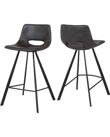Tmavosivá barová stolička Canett Coronas, výška 87 cm