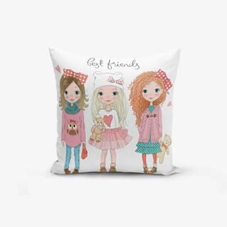 Obliečka na vankúš s prímesou bavlny Minimalist Cushion Covers Best Friends, 45×45 cm