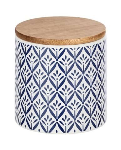 Keramický úložný box s bambusovým vekom Wenko Lorca, 450 ml