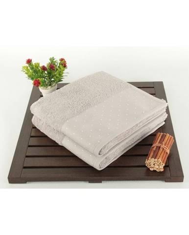 Sada 2 svetlosivých bavlnených uterákov Patricia, 50 × 90 cm