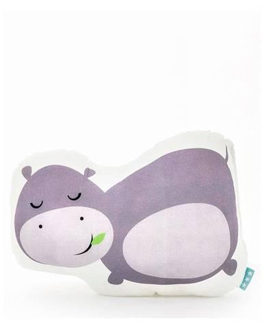 Bavlnený vankúšik Mr. Fox Hippo 40 × 30 cm