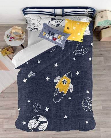 Set obliečky na prikrývku a vankúša s potlačou Baleno Starspace, 140×200 cm