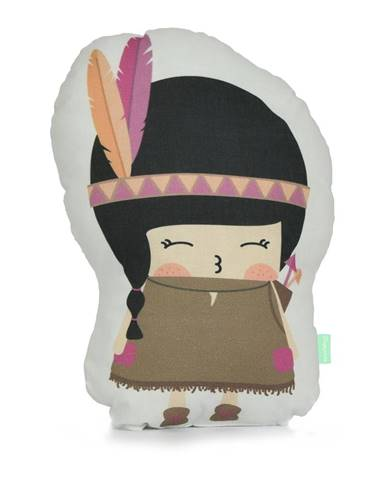 Vankúšik z čistej bavlny Happynois Indian Girl, 40×30 cm