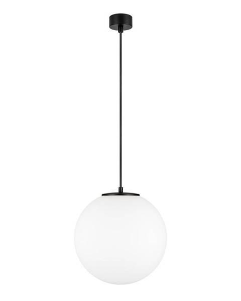 Sotto Luce Biele závesné svietidlo v čiernej farbe s objímkou Sotto Luce TSUKI L