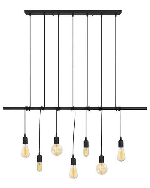 Opviq lights Čierne kovové závesné svietidlo Opviq lights Vincent