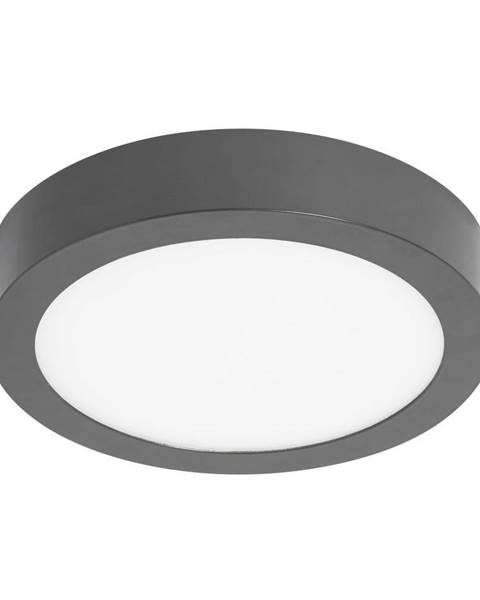 SULION Sivé kruhové stropné svietidlo SULION, ø30 cm