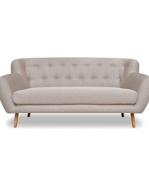 Cosmopolitan Design Sivobéžová pohovka Cosmopolitan dizajn London, 162 cm