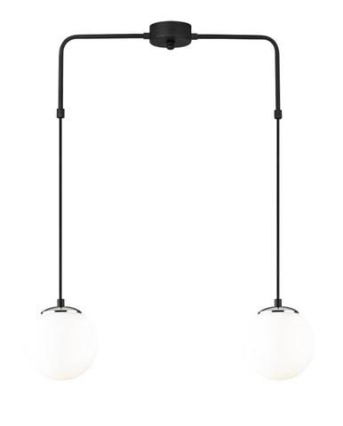 Čierne kovové závesné svietidlo Opviq lights Dinos