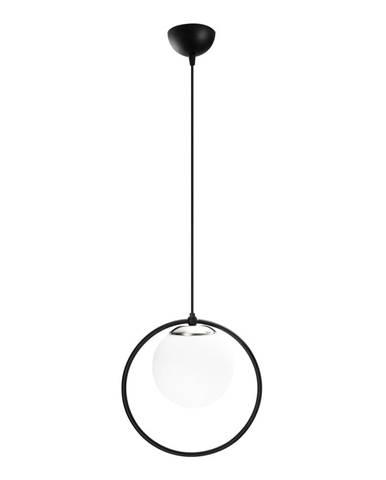 Čierne kovové závesné svietidlo Opviq lights Vivi