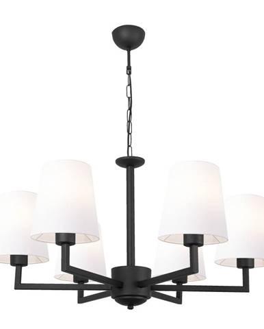 Čierne kovové závesné svietidlo s bielymi tienidlami Opviq lights Christina