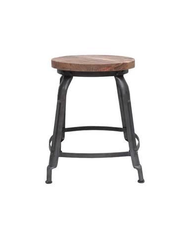 Sivá stolička so sedákom z mangového dreva LABEL51 Delhi